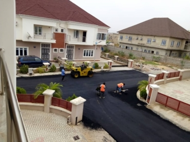 FINAL ROAD WORKS BEGINS IN AMBASSADORS VILLA 1